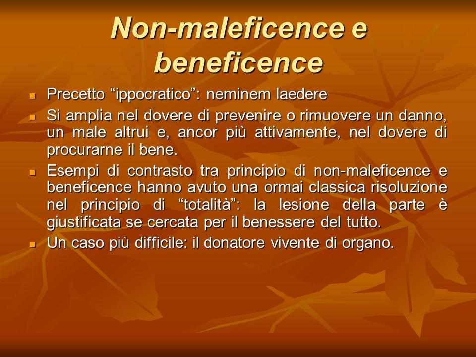 Non-maleficence e beneficence