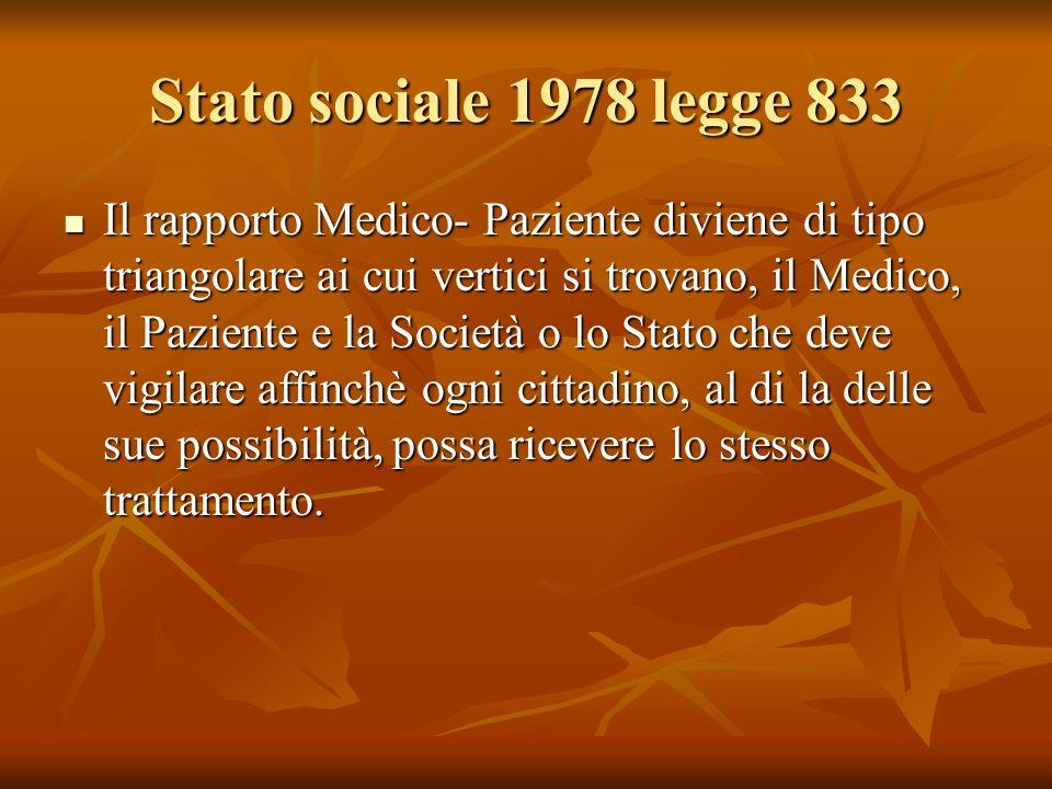Stato sociale 1978 legge 833