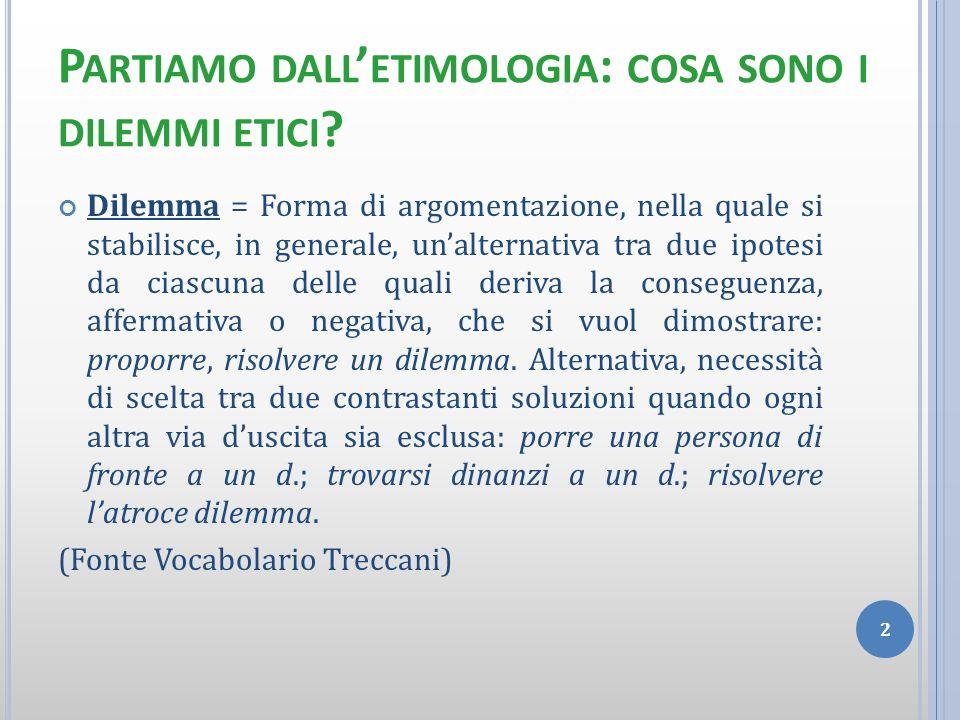 Partiamo dall'etimologia: cosa sono i dilemmi etici