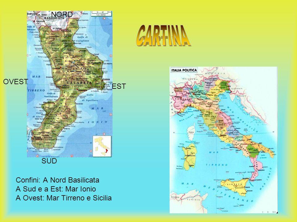 CARTINA NORD OVEST EST SUD