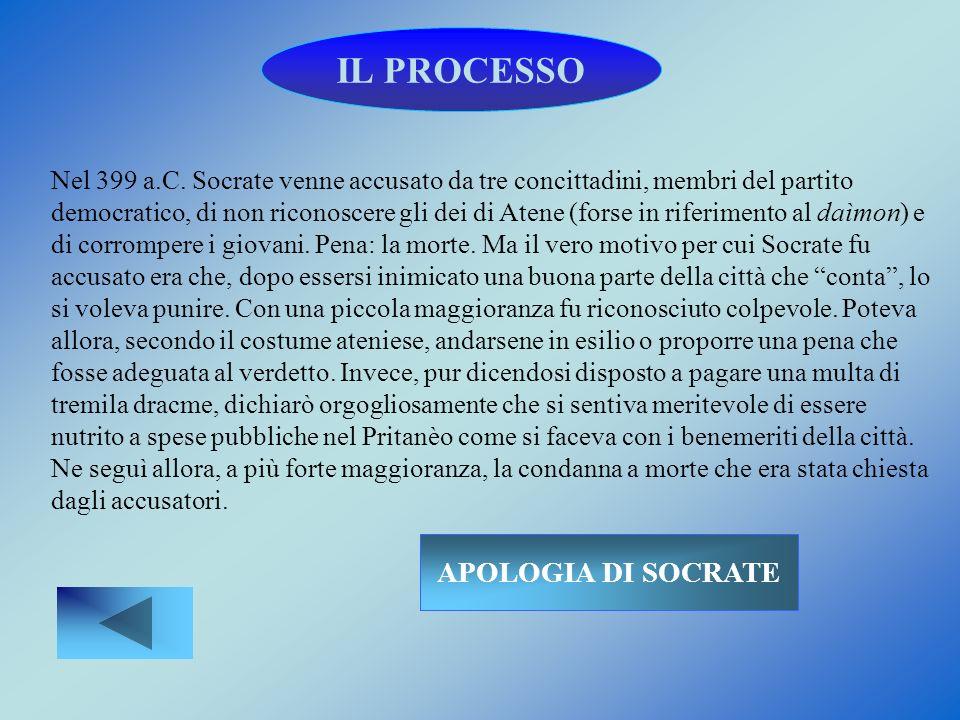 IL PROCESSO APOLOGIA DI SOCRATE