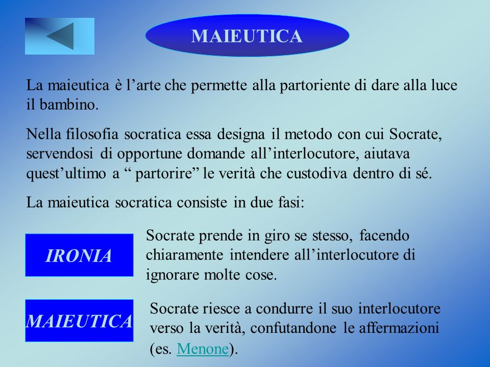 MAIEUTICA IRONIA MAIEUTICA