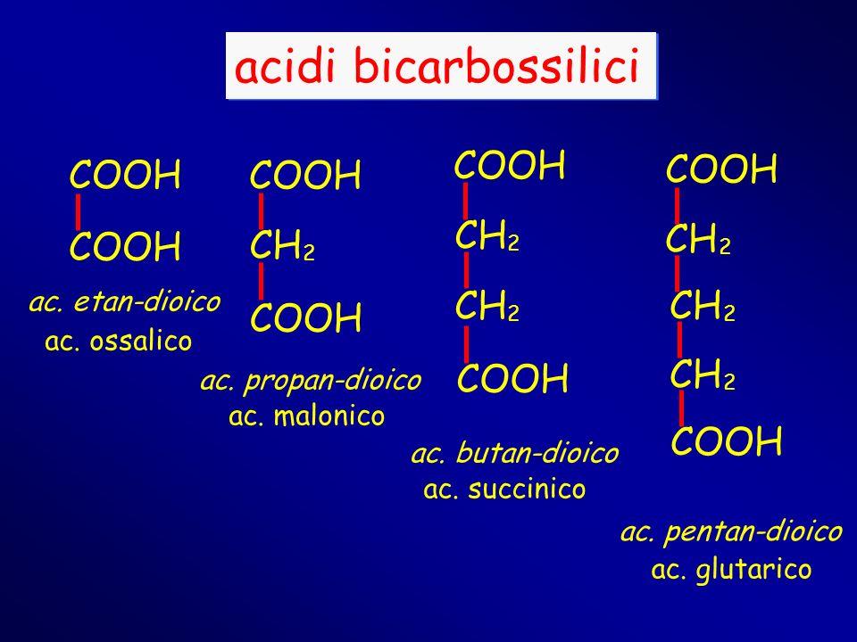 acidi bicarbossilici COOH COOH COOH CH CH COOH CH ac. etan-dioico