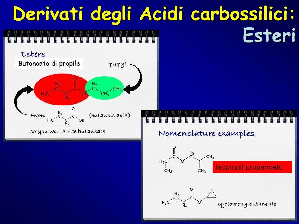 Derivati degli Acidi carbossilici: Esteri