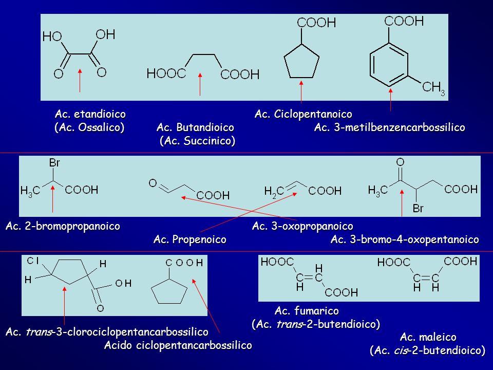 Ac. etandioico Ac. Ciclopentanoico