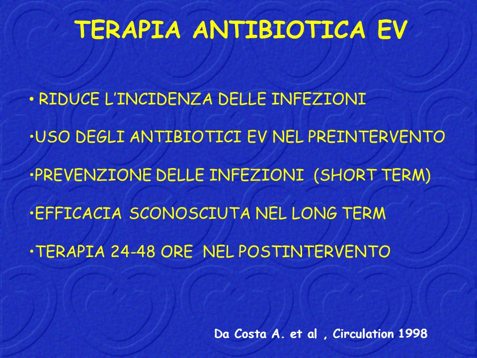 TERAPIA ANTIBIOTICA EV