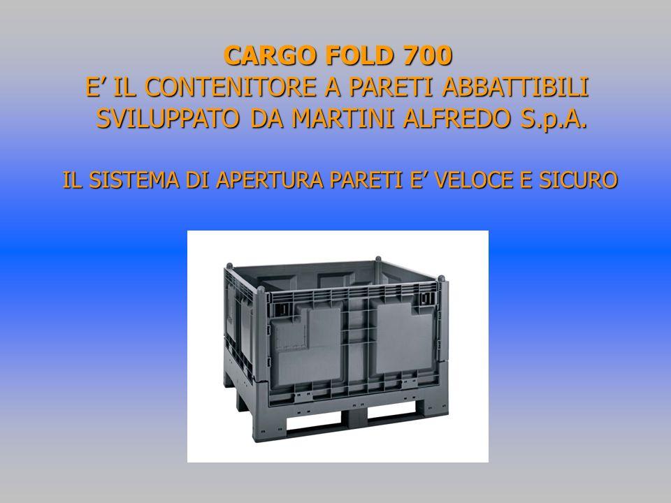 CARGO FOLD 700 E' IL CONTENITORE A PARETI ABBATTIBILI