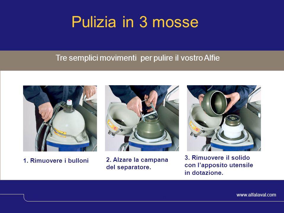 Pulizia in 3 mosse Tre semplici movimenti per pulire il vostro Alfie