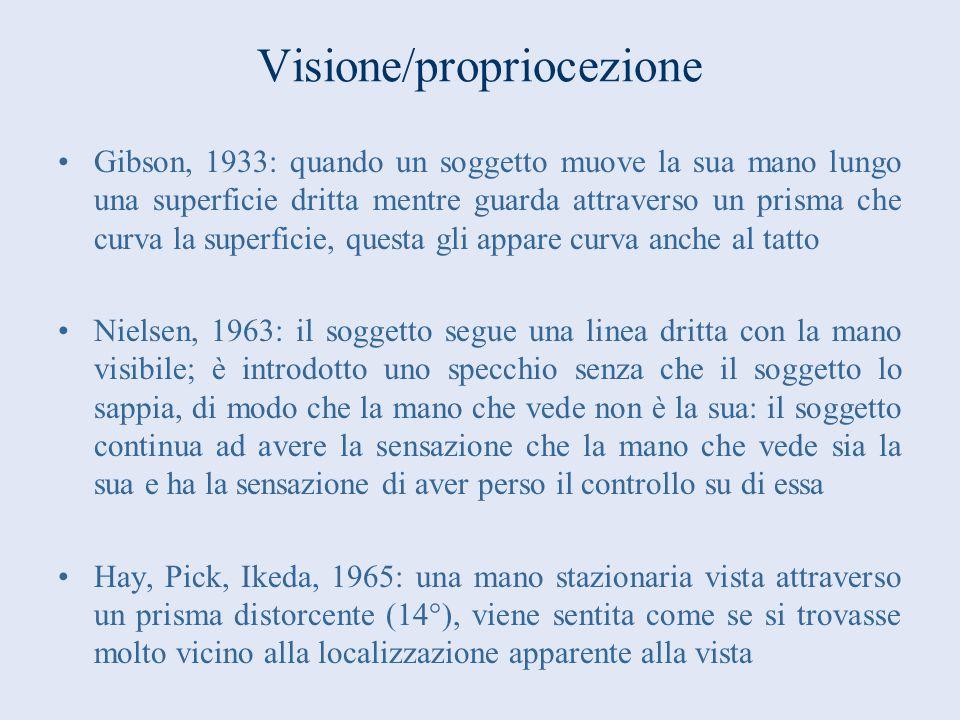Visione/propriocezione