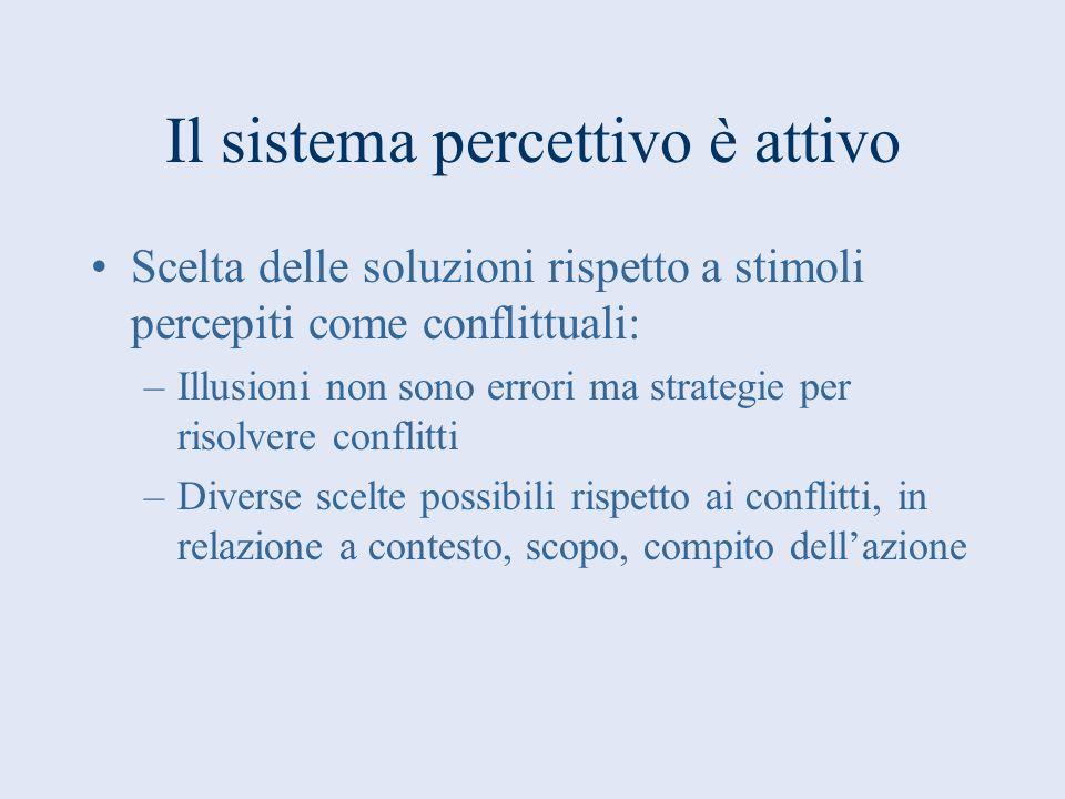 Il sistema percettivo è attivo