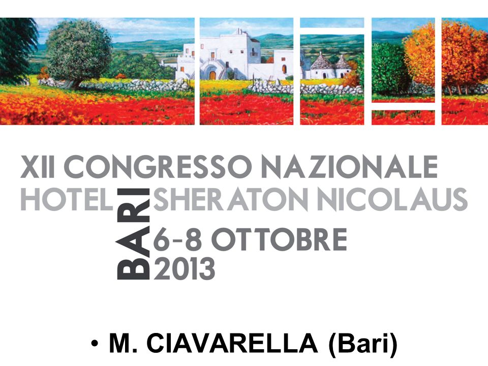 M. CIAVARELLA (Bari)