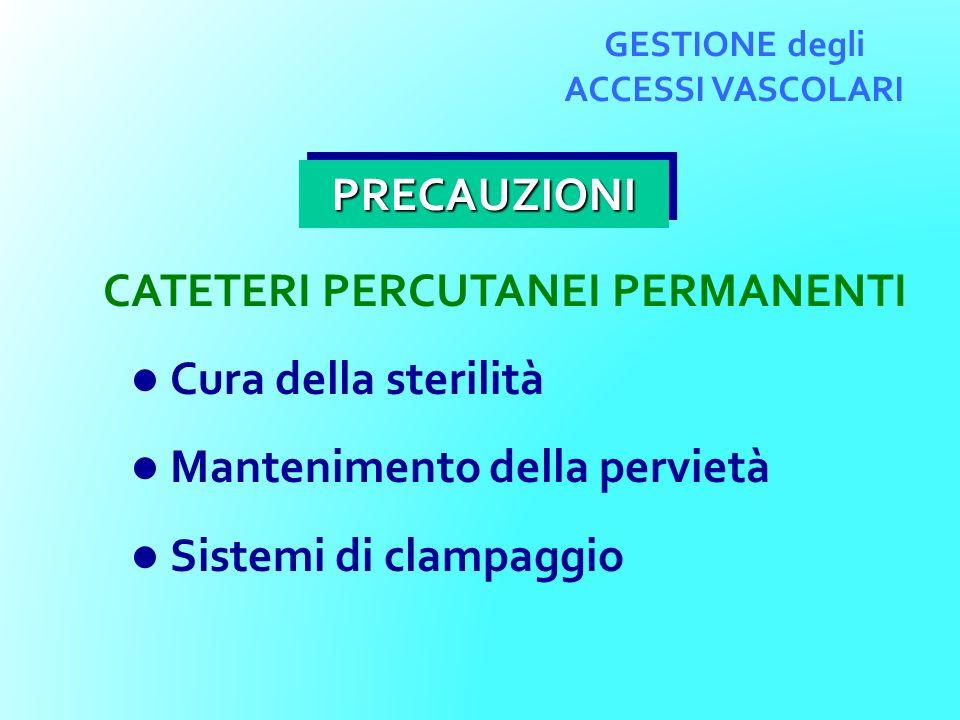 GESTIONE degli ACCESSI VASCOLARI CATETERI PERCUTANEI PERMANENTI