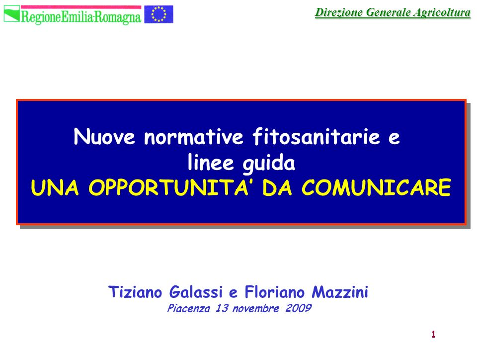 Nuove normative fitosanitarie e linee guida