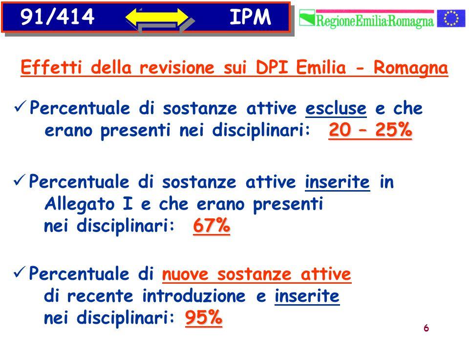 Effetti della revisione sui DPI Emilia - Romagna