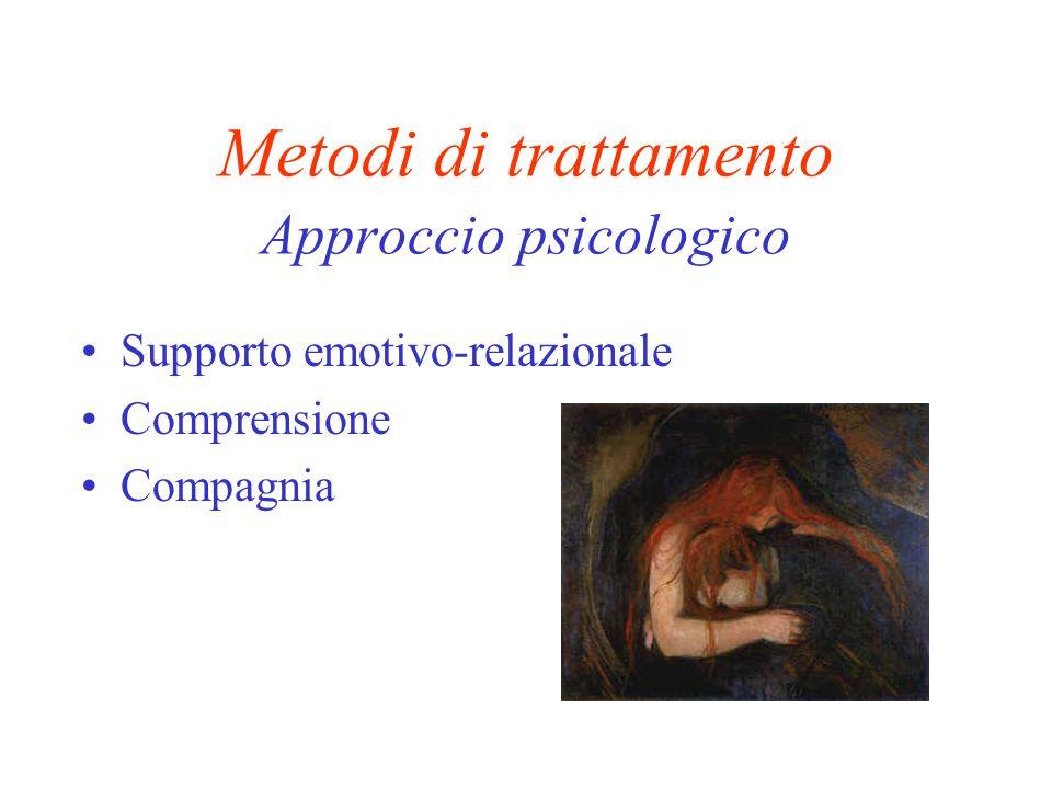 Metodi di trattamento Approccio psicologico