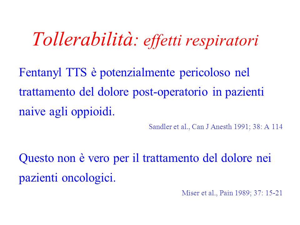 Tollerabilità: effetti respiratori