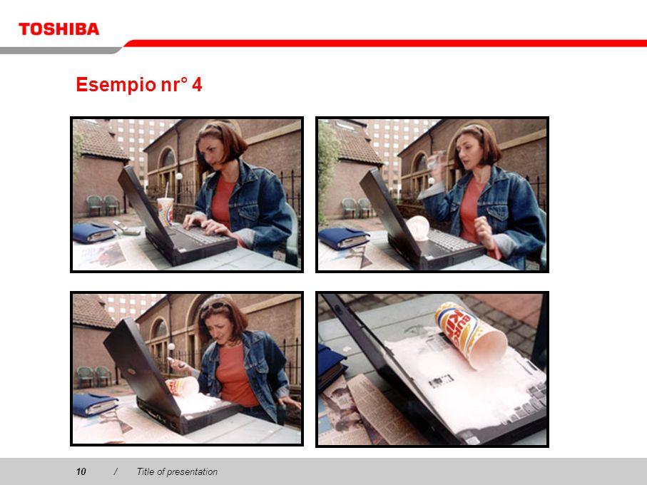 Esempio nr° 4 10 / Title of presentation