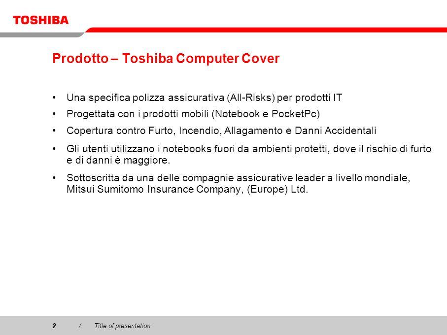 Prodotto – Toshiba Computer Cover