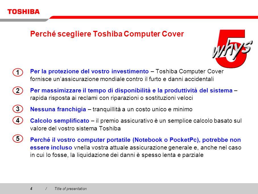 Perché scegliere Toshiba Computer Cover
