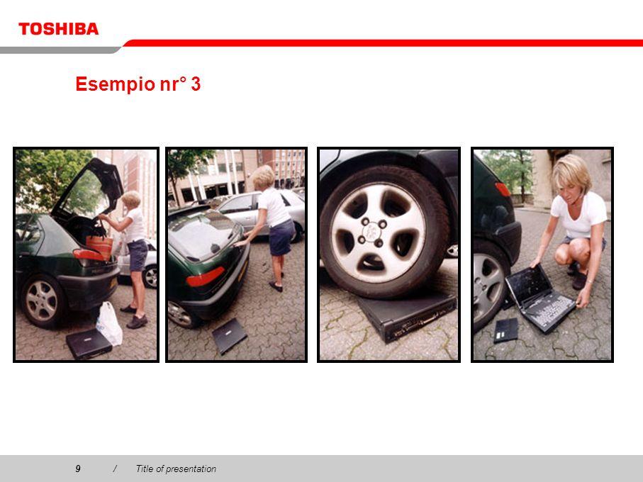 Esempio nr° 3 9 / Title of presentation