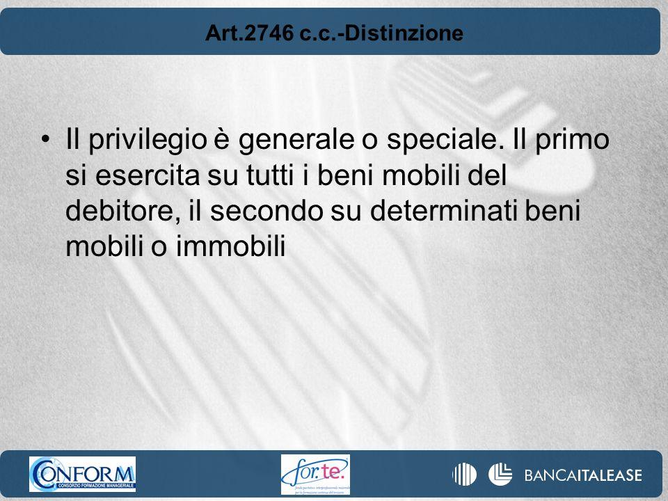 Art.2746 c.c.-Distinzione