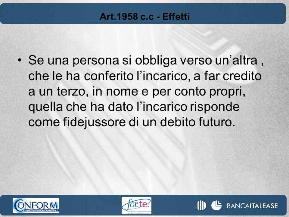 Art.1958 c.c - Effetti