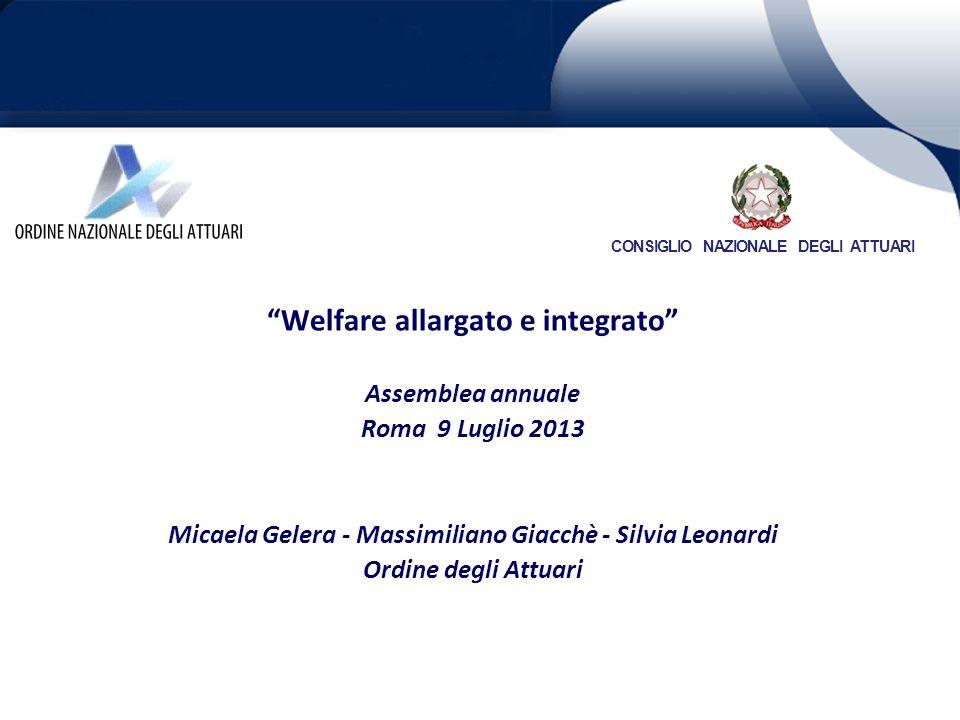 Welfare allargato e integrato