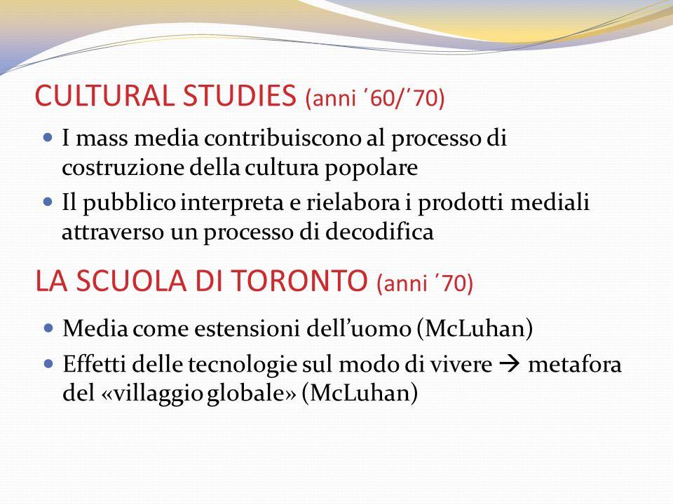 CULTURAL STUDIES (anni ΄60/΄70)