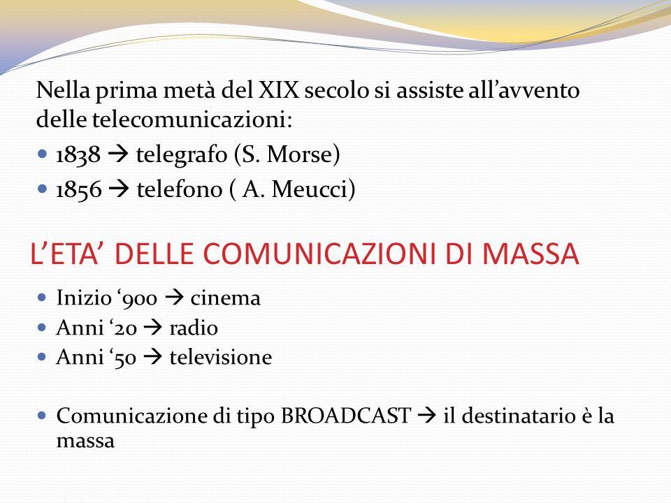 L'ETA' DELLE COMUNICAZIONI DI MASSA
