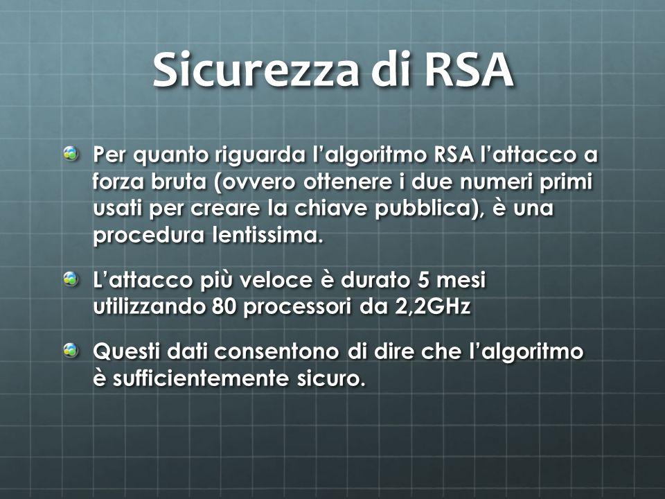 Sicurezza di RSA