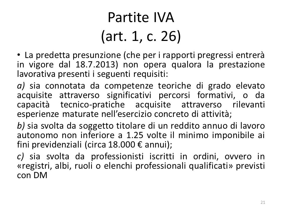 Partite IVA (art. 1, c. 26)
