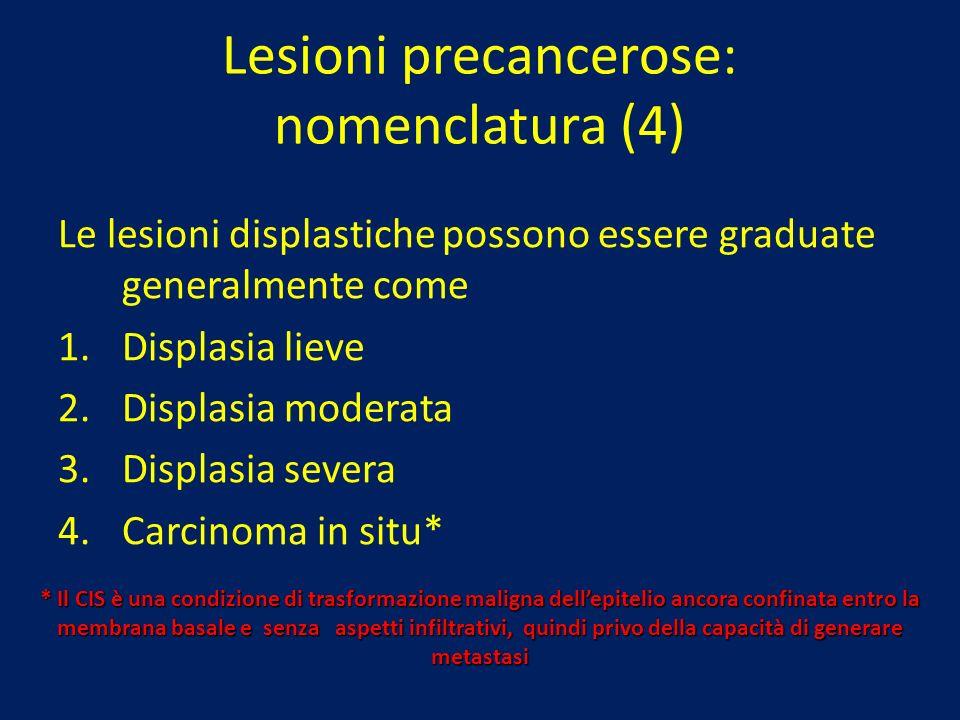 Lesioni precancerose: nomenclatura (4)