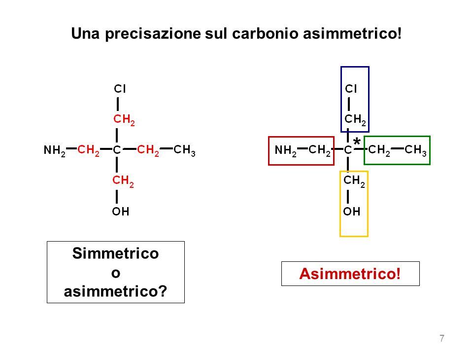 Una precisazione sul carbonio asimmetrico!