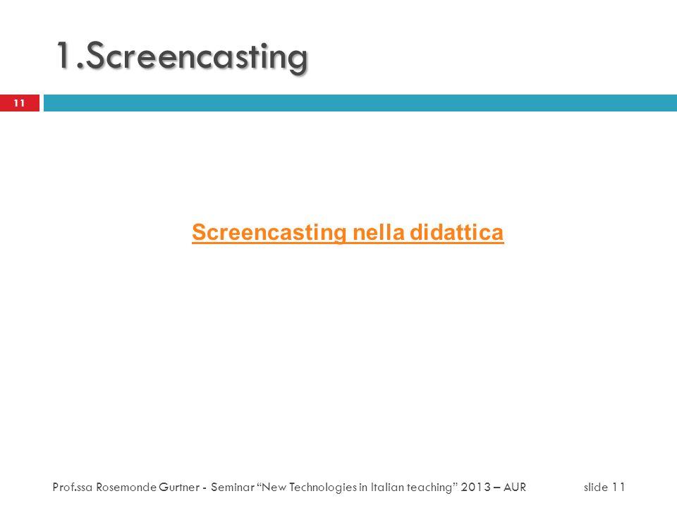 Screencasting nella didattica