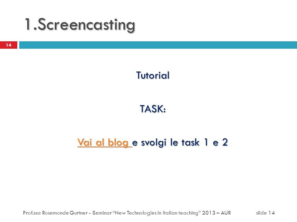 Vai al blog e svolgi le task 1 e 2