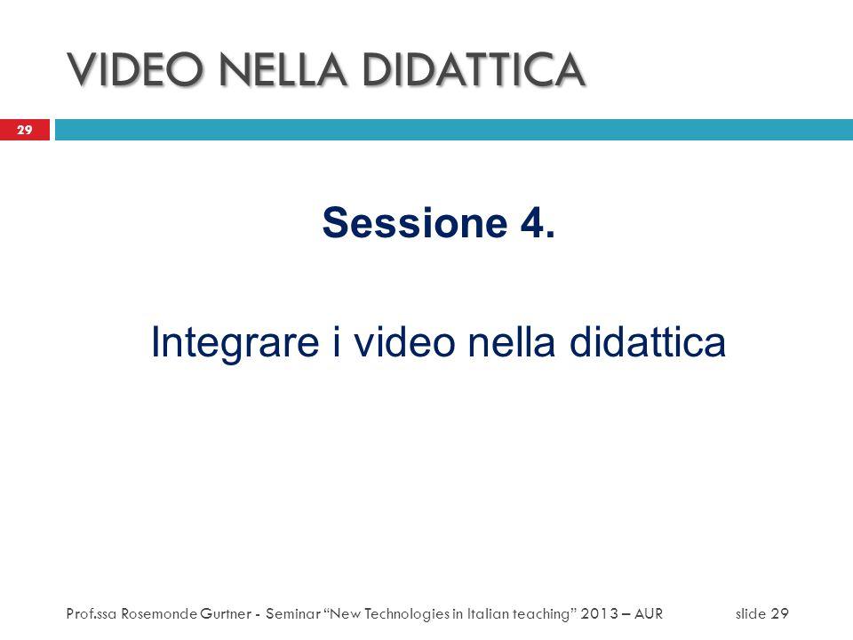 Integrare i video nella didattica