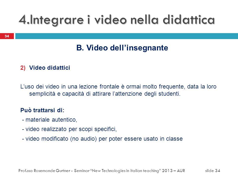 4.Integrare i video nella didattica