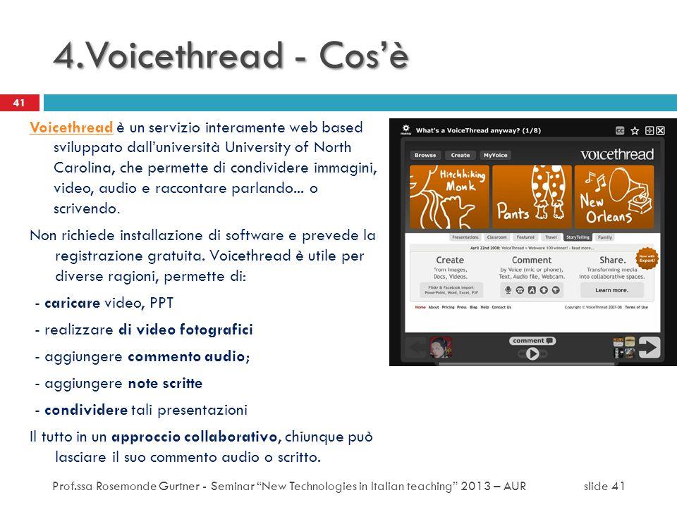 4.Voicethread - Cos'è