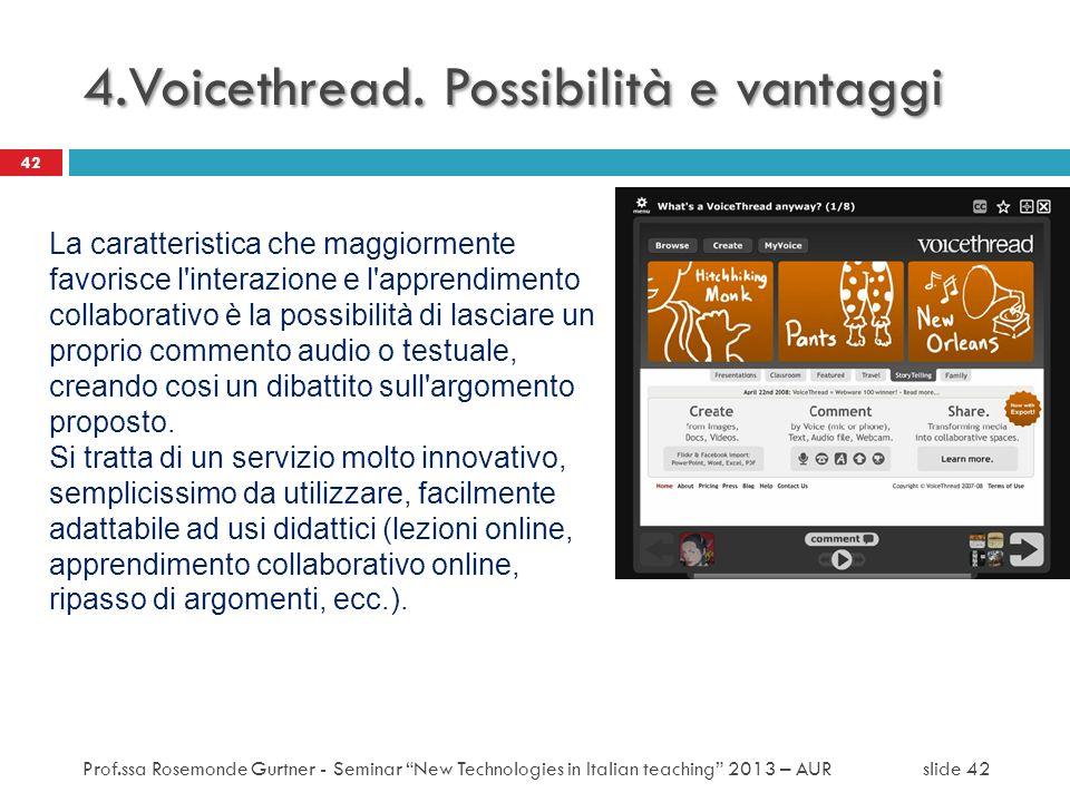 4.Voicethread. Possibilità e vantaggi