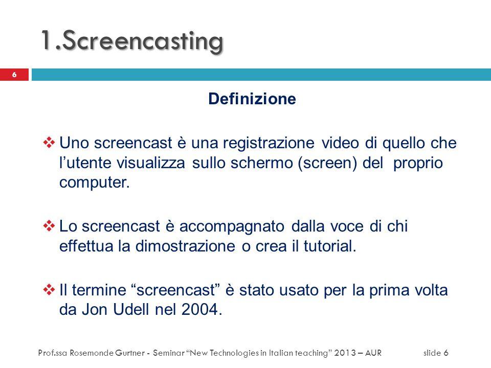 1.Screencasting Definizione