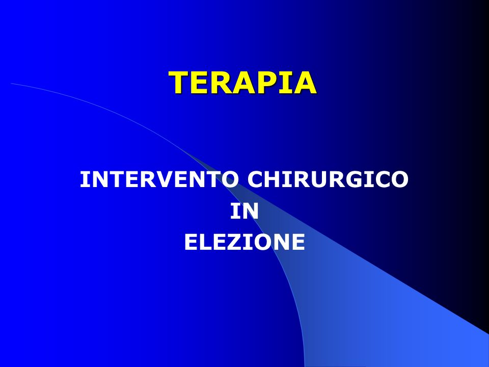INTERVENTO CHIRURGICO IN ELEZIONE