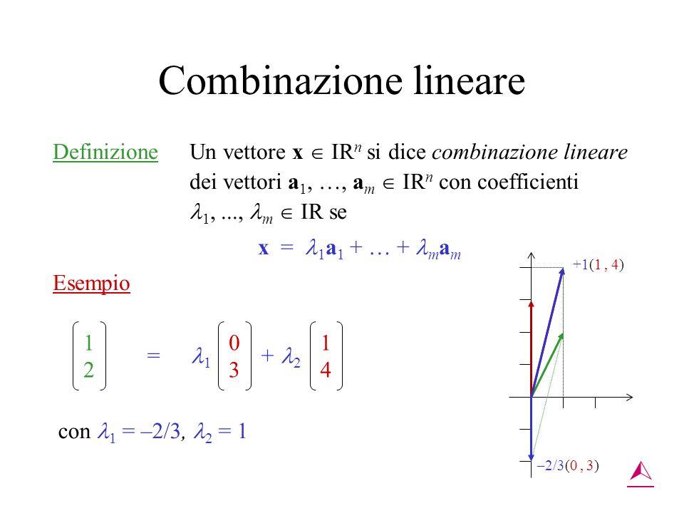 Combinazione lineare 
