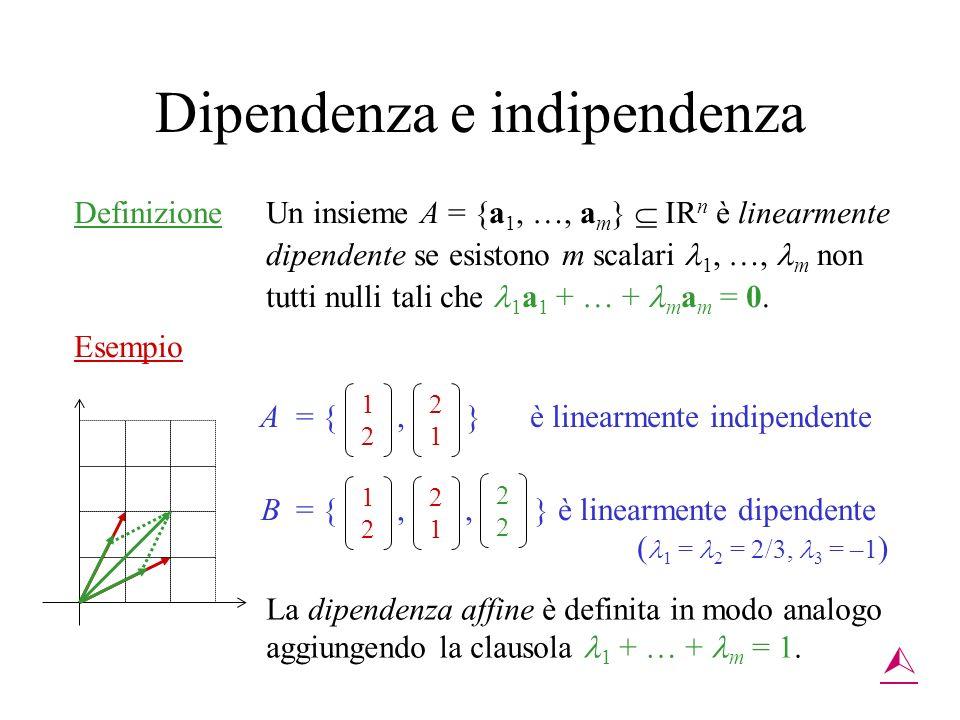 Dipendenza e indipendenza