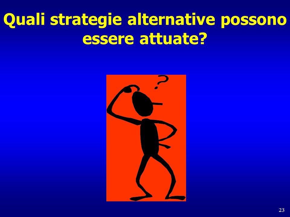 Quali strategie alternative possono essere attuate