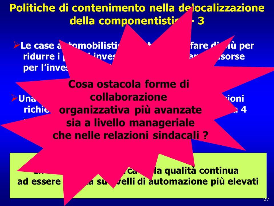 Cosa ostacola forme di collaborazione organizzativa più avanzate sia a livello manageriale che nelle relazioni sindacali
