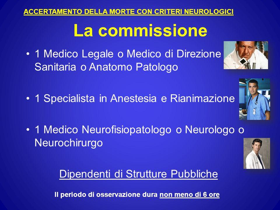 ACCERTAMENTO DELLA MORTE CON CRITERI NEUROLOGICI