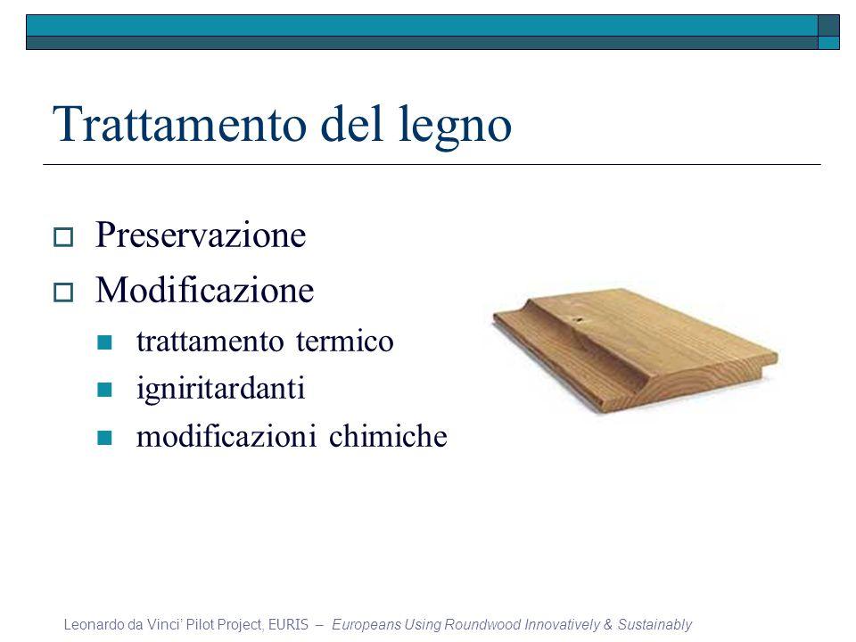 Trattamento del legno Preservazione Modificazione trattamento termico