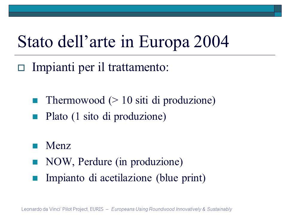 Stato dell'arte in Europa 2004