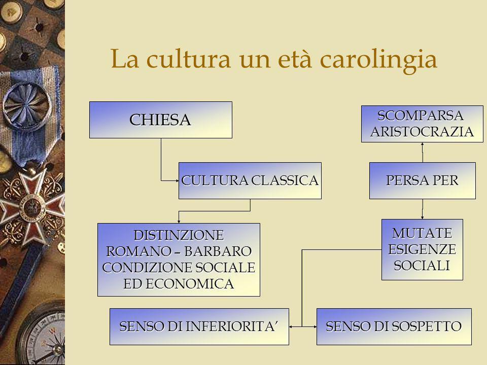 La cultura un età carolingia