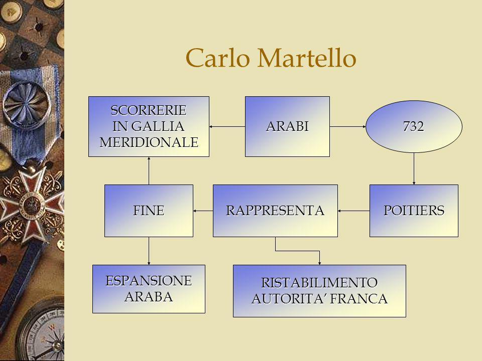 Carlo Martello SCORRERIE IN GALLIA MERIDIONALE ARABI 732 FINE